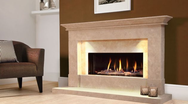 Efficient and energy saving balanced flue fireplace