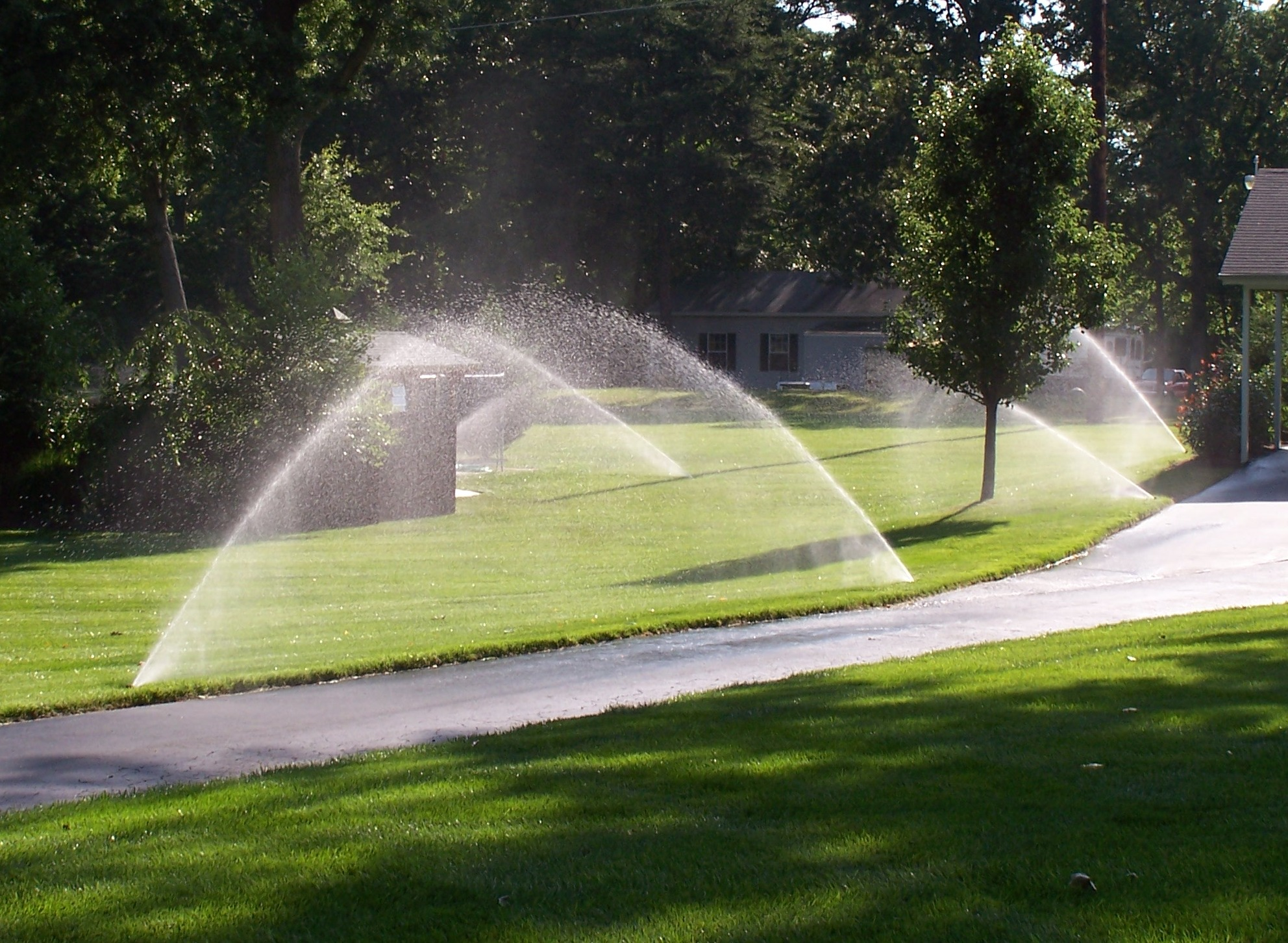 sprinklers for a large area