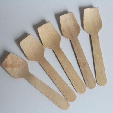 wooden ice cream spoons